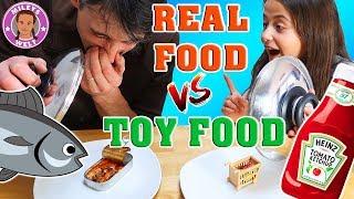 REAL FOOD VS. SPIELZEUG FOOD - Toy Food - Mileys Welt