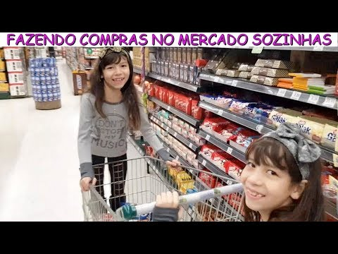 FAZENDO COMPRAS NO MERCADO SOZINHAS