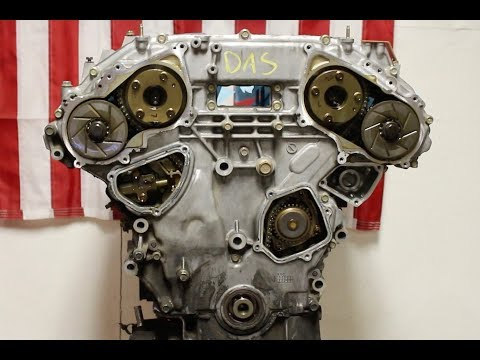 Nissan 350z Engine Build Part 5, Timing Cover Removal - YouTube