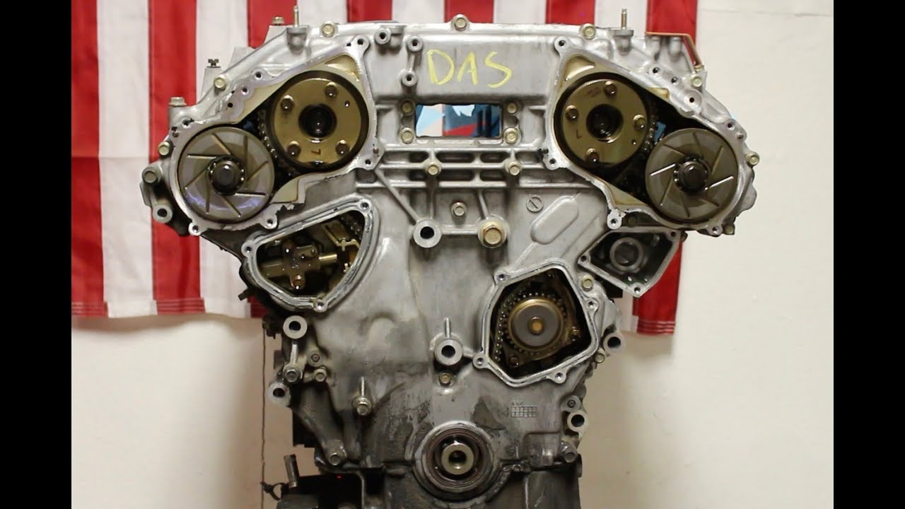 Nissan 350z Engine Build Part 5, Timing Cover Removal  YouTube