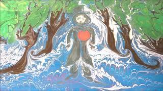 """ВеДеДо+. """"Забавы Феи"""" (Коренблит-Бальмонт). Фильм создан в технике Эбру - рисования на воде"""
