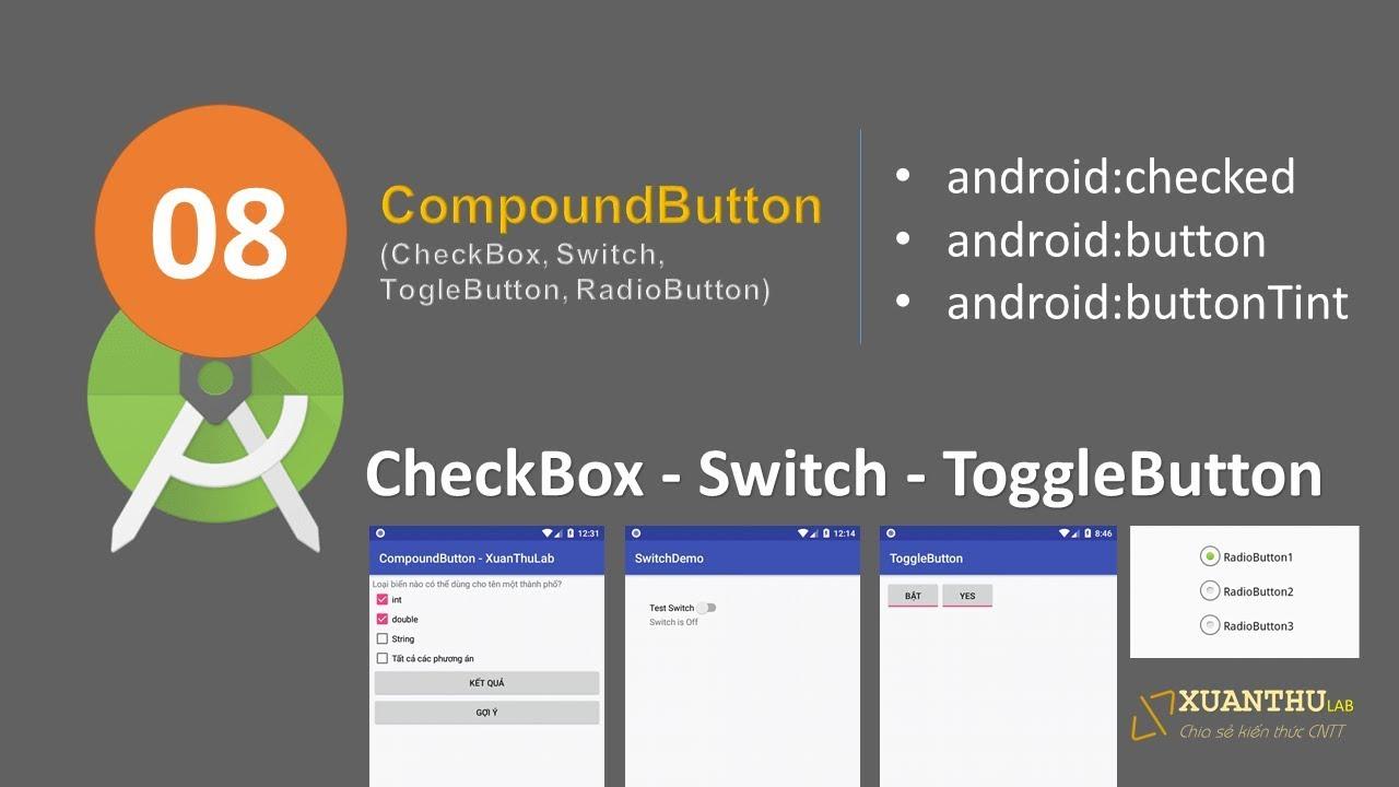 Sử dụng CheckBox trong lập trình Android