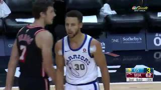 Warriors' Stephen Curry drops 30 points in Three Quarters vs Heat