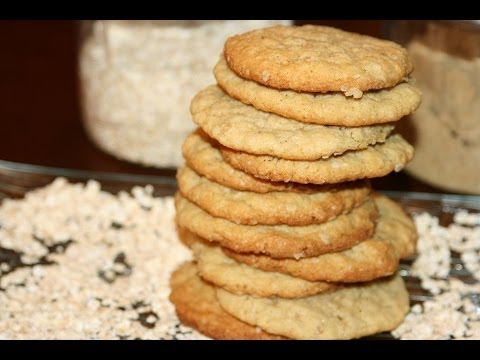 biscuits-tendres-à-l'avoine-sans-beurre---chewy-oatmeal-cookies---تحضير-كوكيز-الشوفان