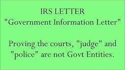 IRS - Government Information Letter