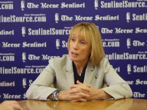 Gov. Maggie Hassan at The Keene Sentinel Editorial Board