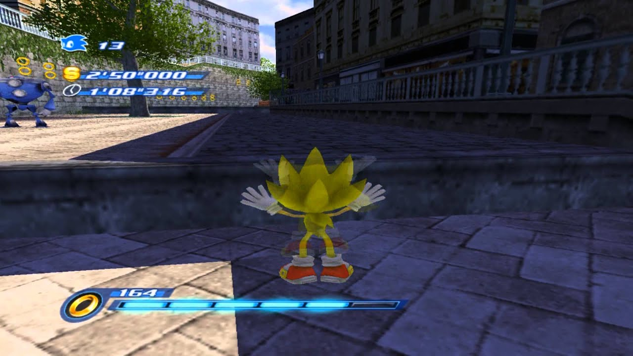 Sonic Unleashed PS2  Super Sonic in Rooftop Run  YouTube