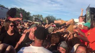 carnifex hell chose me live warped tour 2017 in west palm beach fl