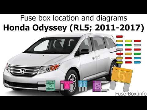 Fuse box location and diagrams Honda Odyssey (RL5; 2011-2017) - YouTube