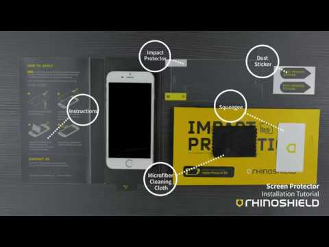 RhinoShield Impact Protection Screen Protector Tutorial