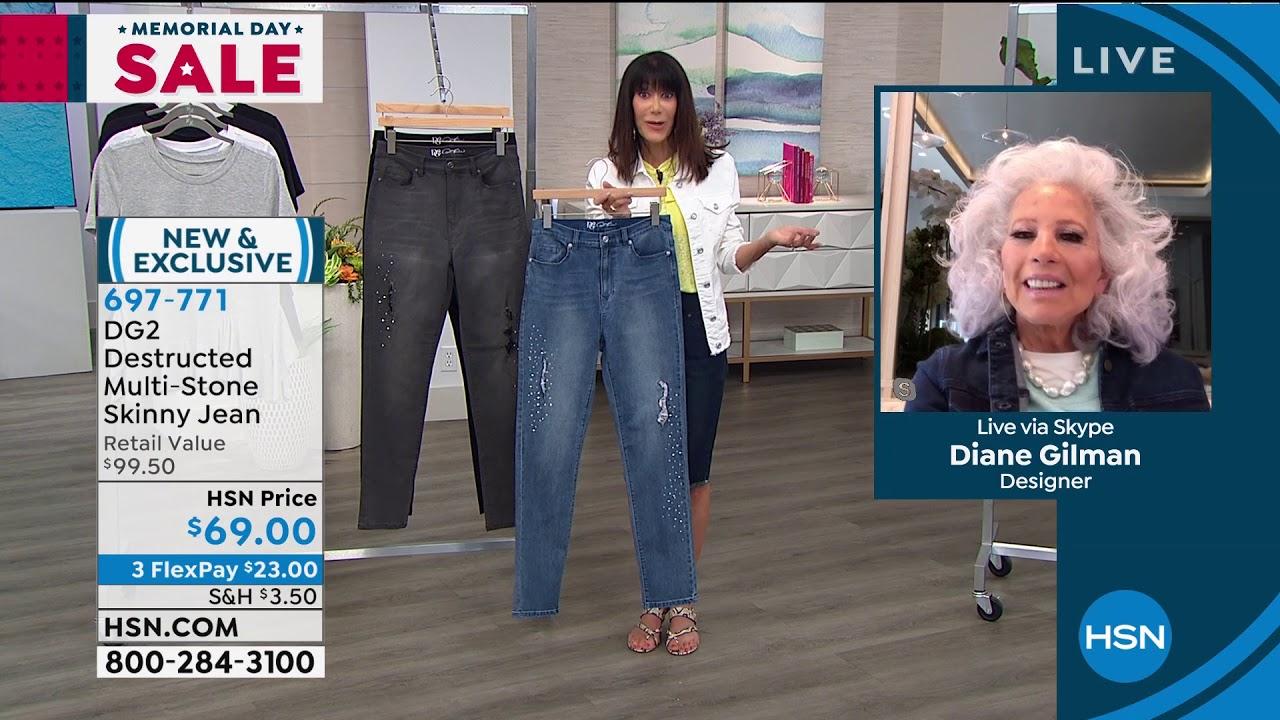 Dg2 By Diane Gilman Destructed Multistone Skinny Jean Youtube