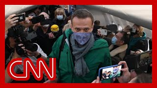 Putin critic Alexey Navalny arrested on his return to Moscow