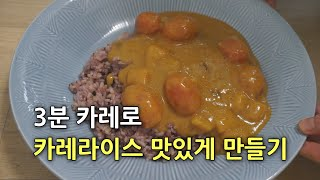 오뚜기 3분 쇠고기 카레 맛있게 먹는법, 3분 카레 요…