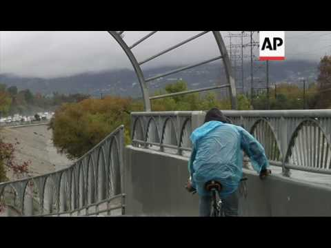Los Angeles Hit with Rain in Late Fall Storm