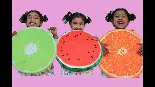 Nursery Rhymes and colourful big fruits with Ishfi
