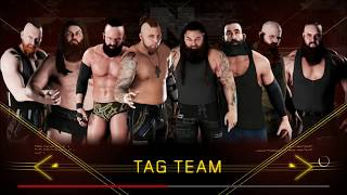 WWE 2K18 - Random Match - Sanity Vs The Wyatt Family - 8 Man Tag
