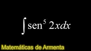 integral de potencias de senos y cosenos ejemplo 4