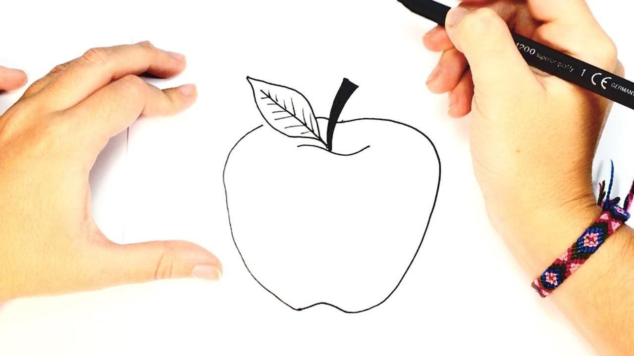 Como dibujar una manzana dibujo f cil de una manzana for Comedor facil de dibujar