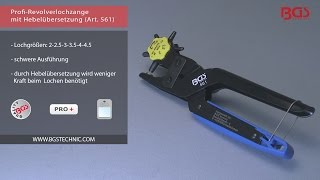 BGS Profi-Revolverlochzange mit Hebelübersicht Lochzange Lederzange 561