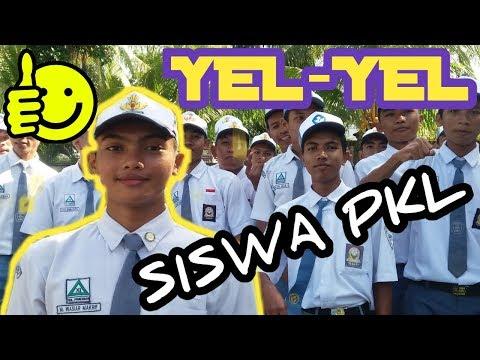 Mengintip semangat anak sekolah  jaman now ll Yel yel siswa PKL l