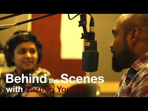 Yazmin Yousuf @ Radio YES FM Sri Lanka - behind the scenes