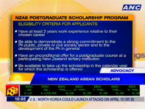 NZ to extend full scholarship assistance to eligible Filipinos