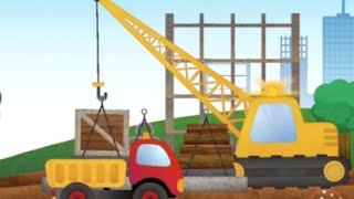 Construction Trucks Cartoon for Children | Construction Game with Dump Trucks, Crane and Bulldozer