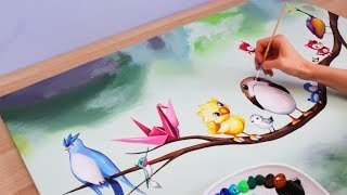 Painting Birds - Disney Pokemon Porg & MORE