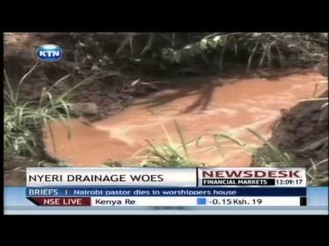 Nyeri floods affecting staff at Kenya Motor garage