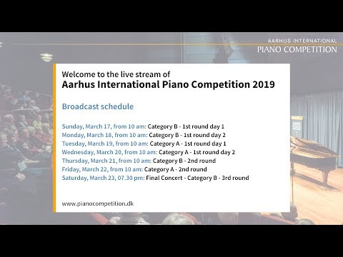 Livestream for Aarhus International Piano Competition 2019
