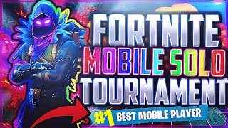 BEST MOBILE FORTNITE PLAYER | Fortnite Solo Tournament Highlights