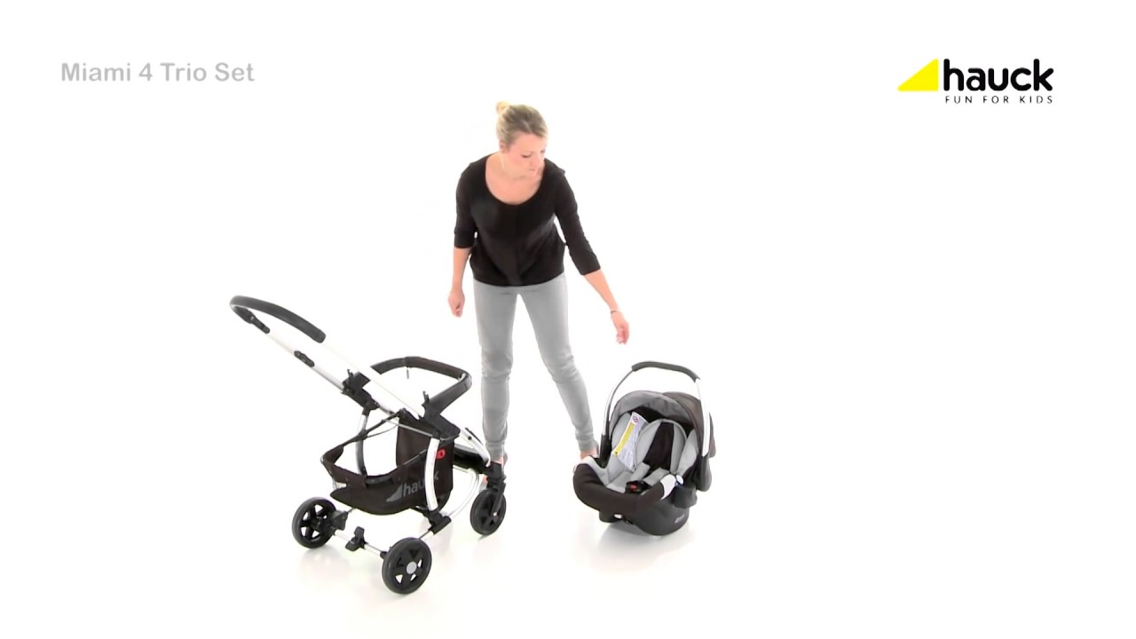 Hauck Shopper Slx Travel System Youtube Hauck Miami 4 Trio Set 3in1 Travel System