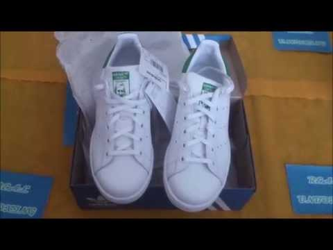 Zalando unboxing acquisti - Adidas Stan Smith shoes scarpe sneakers tennis white/green