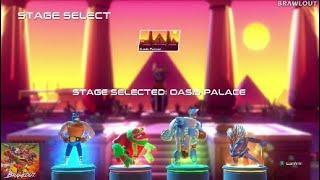 Brawlout (PS4/XBOX One) | Juan & Paco vs. Olaf Tyson & Volt | Fight #2