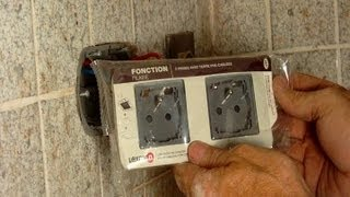 How To Install A Double Electrical Outlet In Tile To Replace A Single Outlet - All Steps Detailed