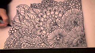 Speed Doodling (speed drawing, Zentangle,un-Doodle,) by Sophia Rose