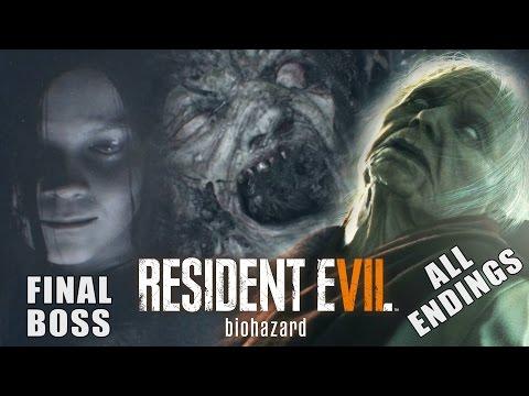 RESIDENT EVIL 7 - Eveline FINAL Boss Fight / ALL Endings (Good Ending + Bad Ending)