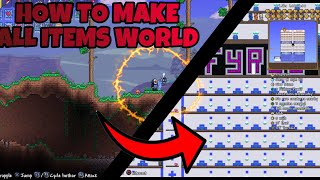 How To MAKE An ALL ITEMS WORLD In TERRARIA - ( PS4 ) 1.3.4 *NO COMPUTER*