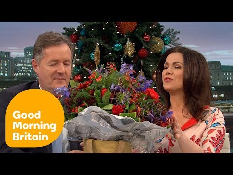 Piers Gives Susannah a Lovely  piers morgan
