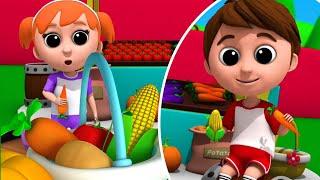 Овощная песня развивающий мультфильм Детский сад Дошкольные видео Детские стишки
