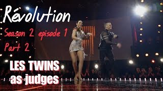 Révolution S02E01 - Part 2 Adriano and Samantha (Les Twins as judges)