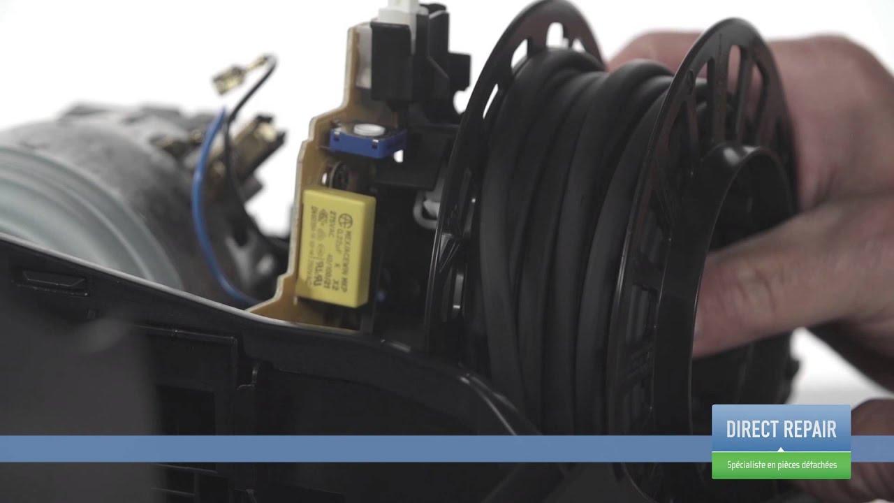 Changer l 39 enrouleur de c ble dans un aspirateur youtube - Comment demonter un karcher ...