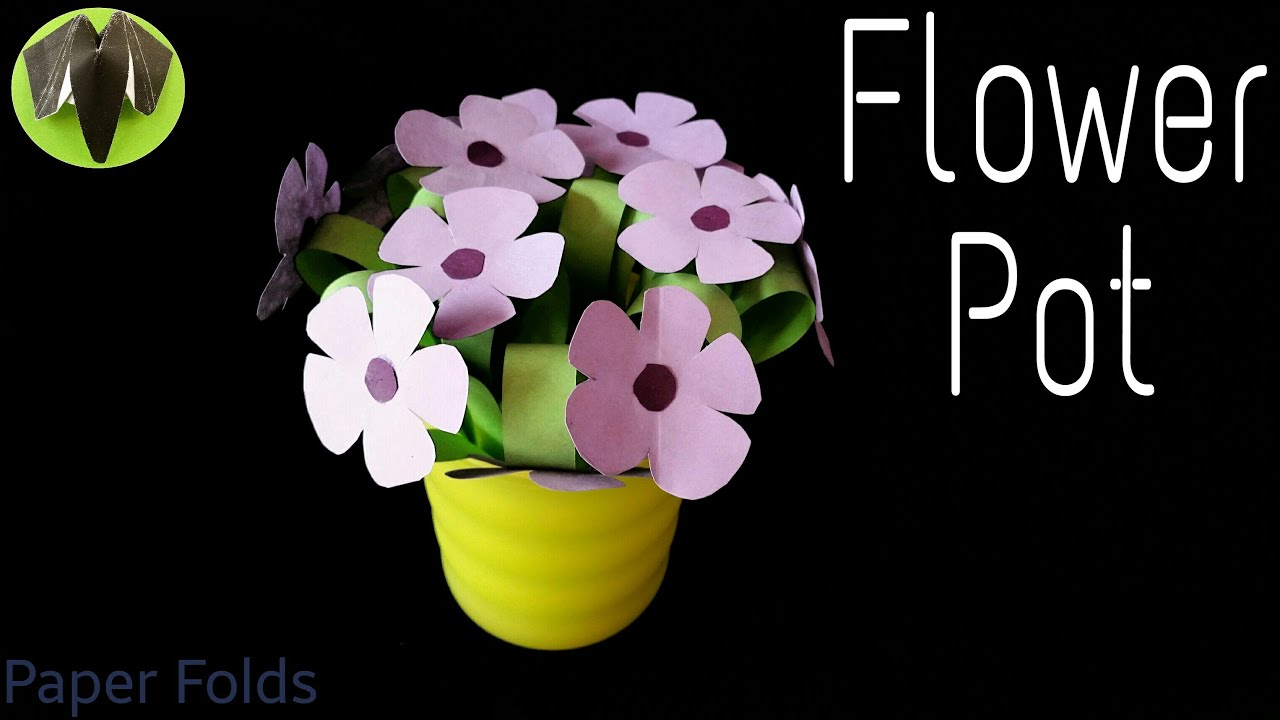 How to make an easy flower pot bouquet for mothers day how to make an easy flower pot bouquet for mothers day paper craft tutorials youtube mightylinksfo