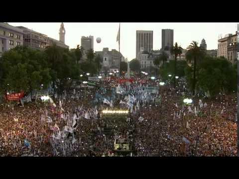 09 de DIC. Cristina Fernández encabezó su último acto presidencial en Casa Rosada.