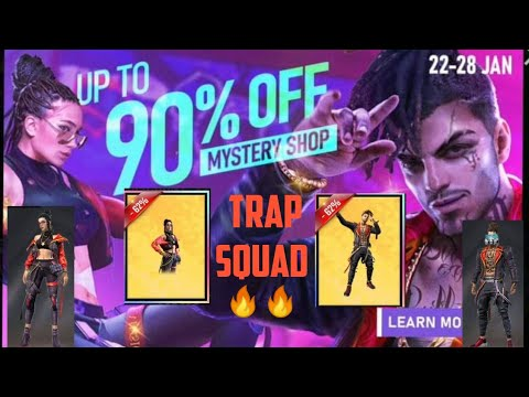 FREEFIRE Mystery Shop 7.0   TRAP SQUAD   Primo & Alpha Discount Offer up to 90% 😱😱🤑🤑