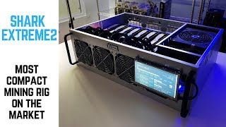 SharkMining Most compact 8 GPU Mining Rig Build with Touchscreen | NVIDIA 1080 Ti