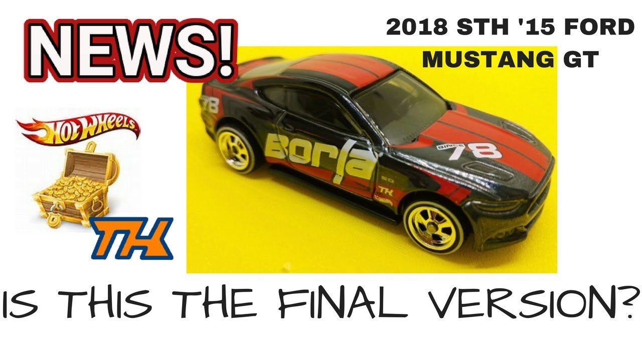2018 hot wheels super treasure hunt ford mustang gt official with wheels