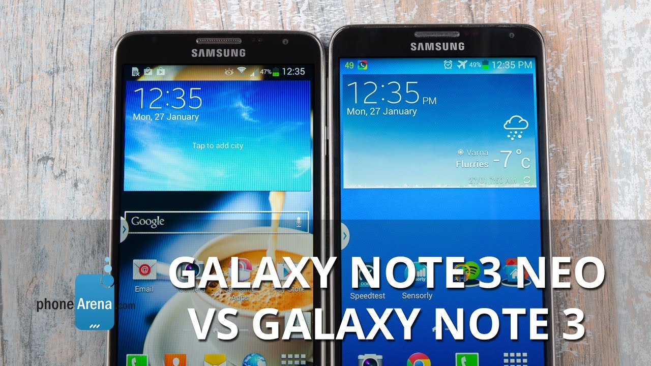 samsung galaxy note 3 neo vs note 3 first look youtube. Black Bedroom Furniture Sets. Home Design Ideas