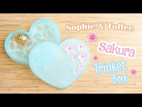 Sakura Pond UV Resin Trinket Box Tutorial│Sophie & Toffee Subscription Box March 2018