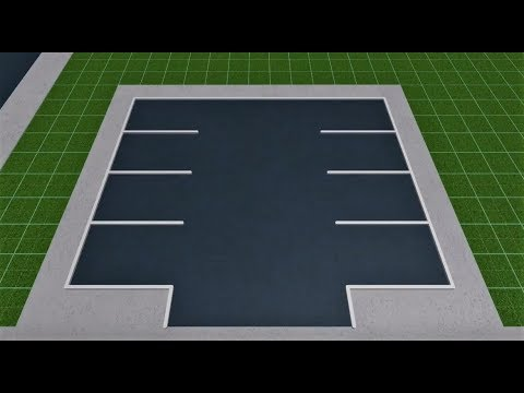 Roblox Welcome To Bloxburg Parking Lot Tutorial Youtube